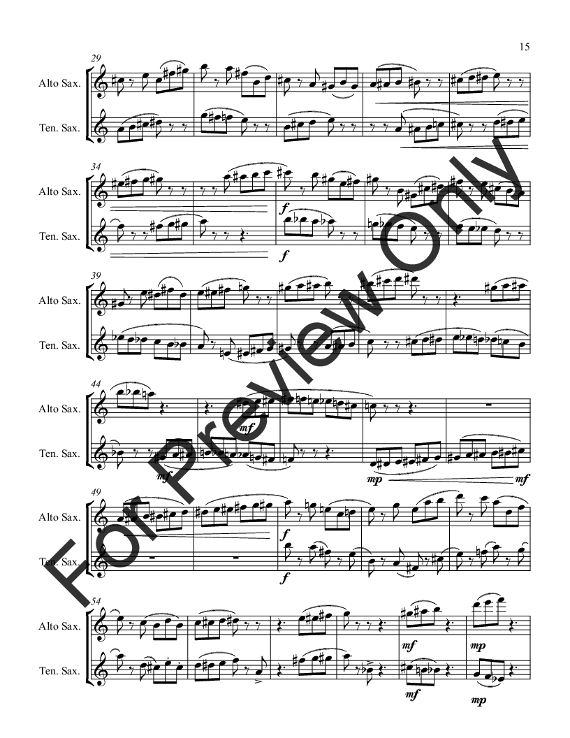 Adages for Alto and Tenor Saxophone Thumbnail