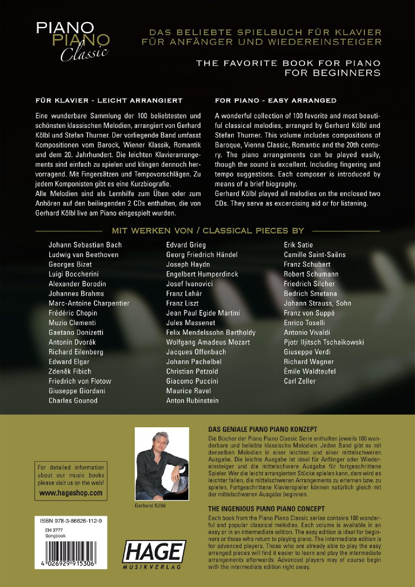 Piano Piano Classic Easy Arrangements (Piano Book   J W