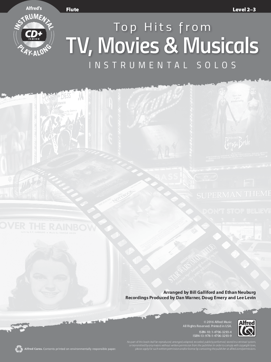 Play-Along TV Top Hits Movies Songs Frozen Star Wars Glee TRUMPET MUSIC BOOK  CD