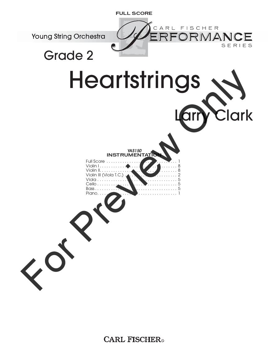 Heartstrings by Larry Clark| J W  Pepper Sheet Music