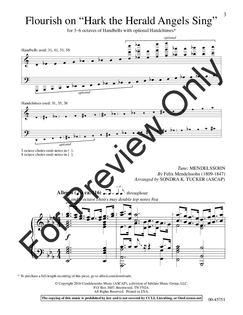 Flourish on Hark! The Herald Angels Sing by Felix | J W  Pepper