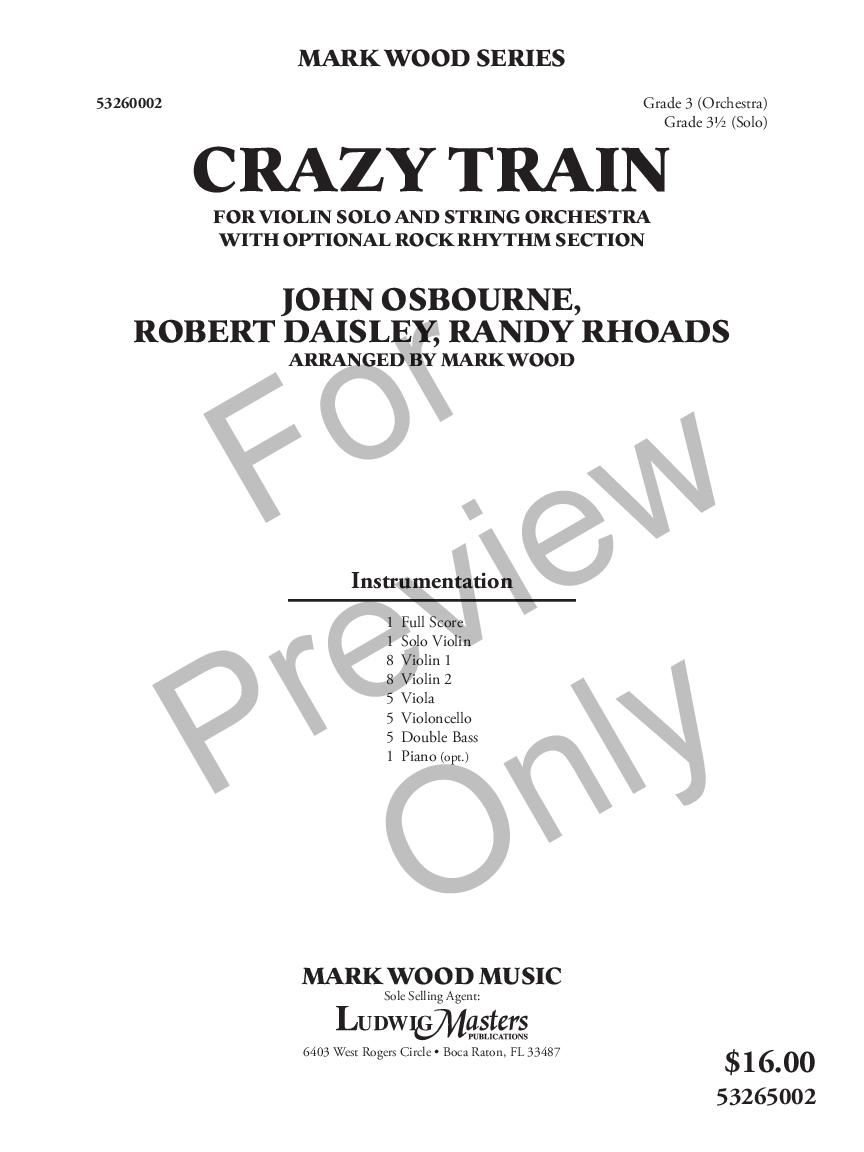 Crazy Train by John Osbourne, Robert Daisley & Ra | J W