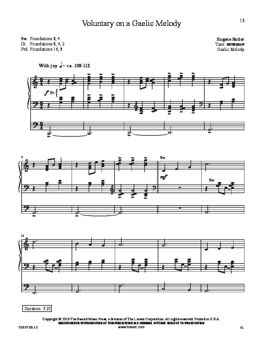 A Eugene Butler Organ Treasury by Eugene Butler| J W  Pepper