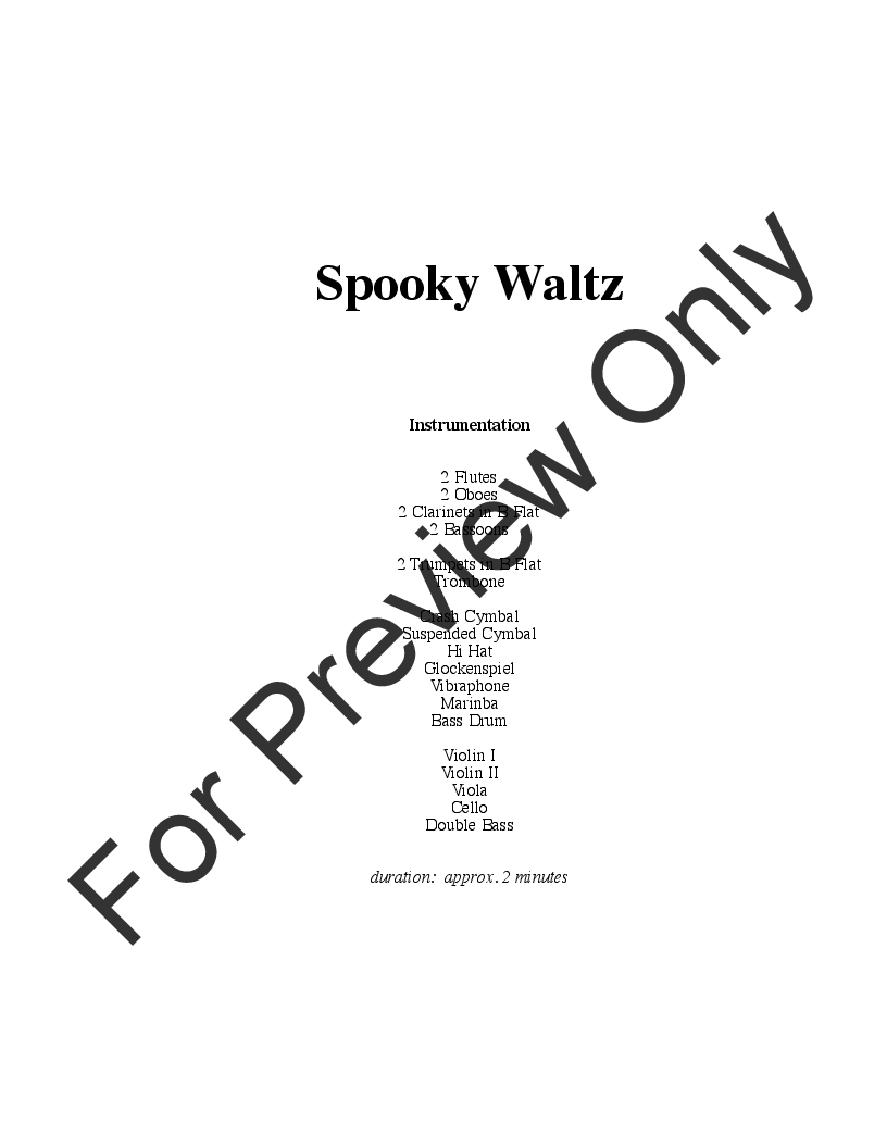 Spooky Waltz (from Three Dances for Halloween) Thumbnail