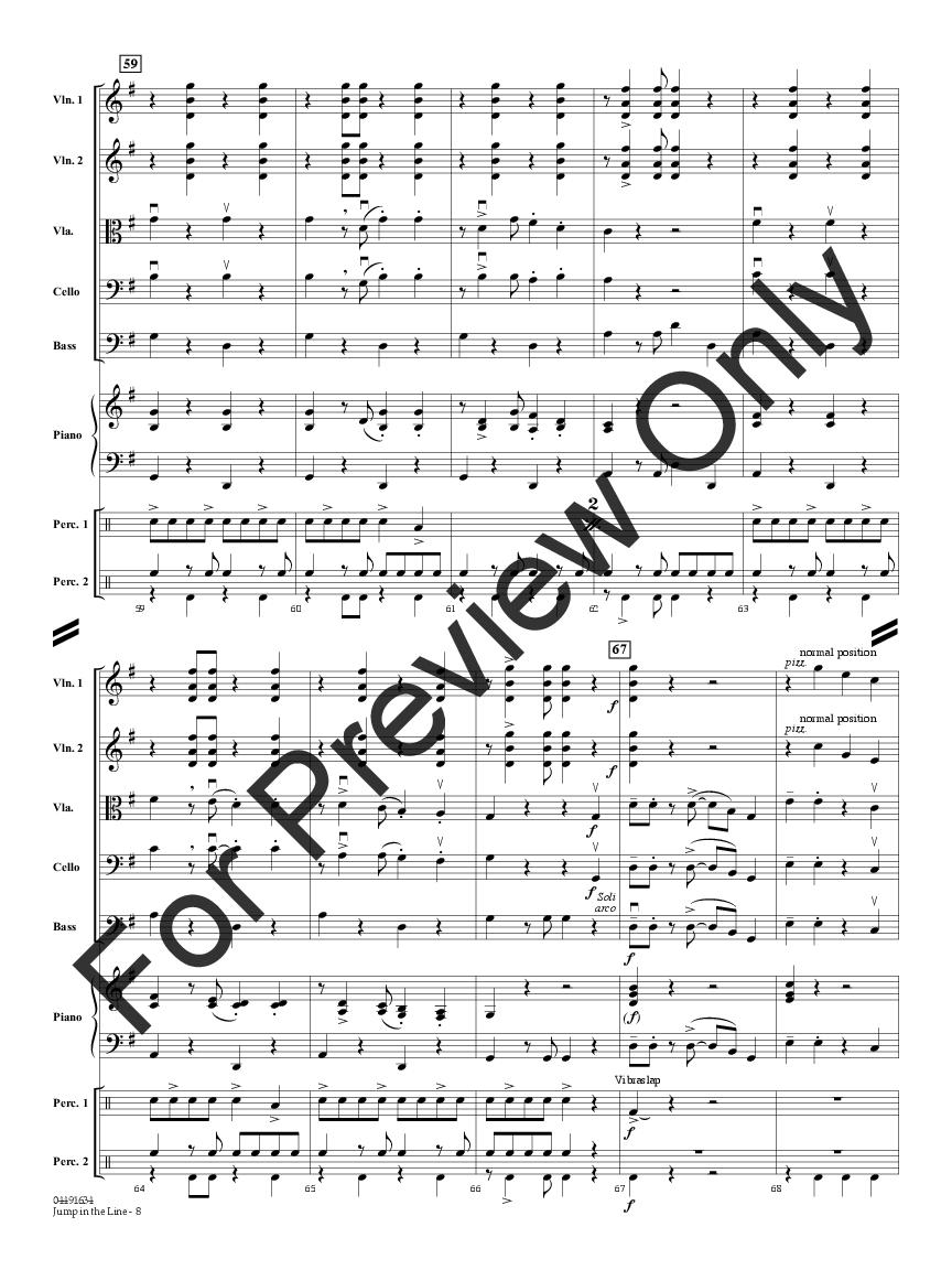 Jump In The Line By Robert Longfield J W Pepper Sheet Music