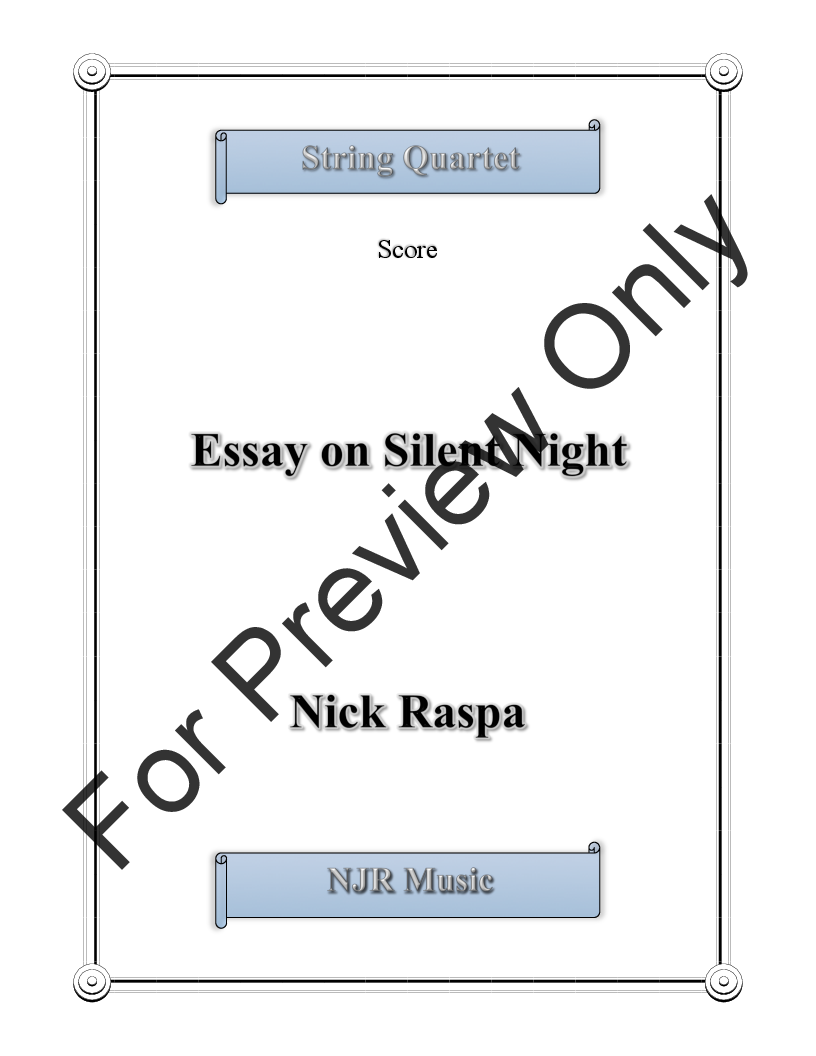Essay on Silent Night Thumbnail