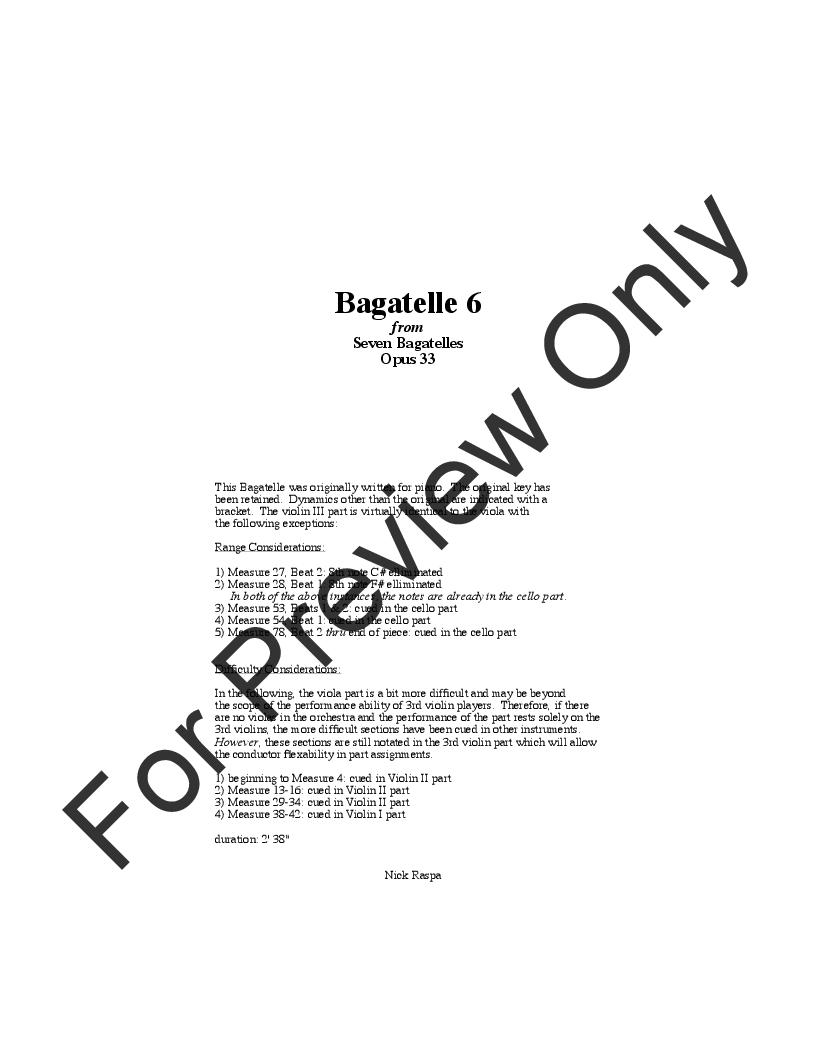 Bagatelle 6 Thumbnail