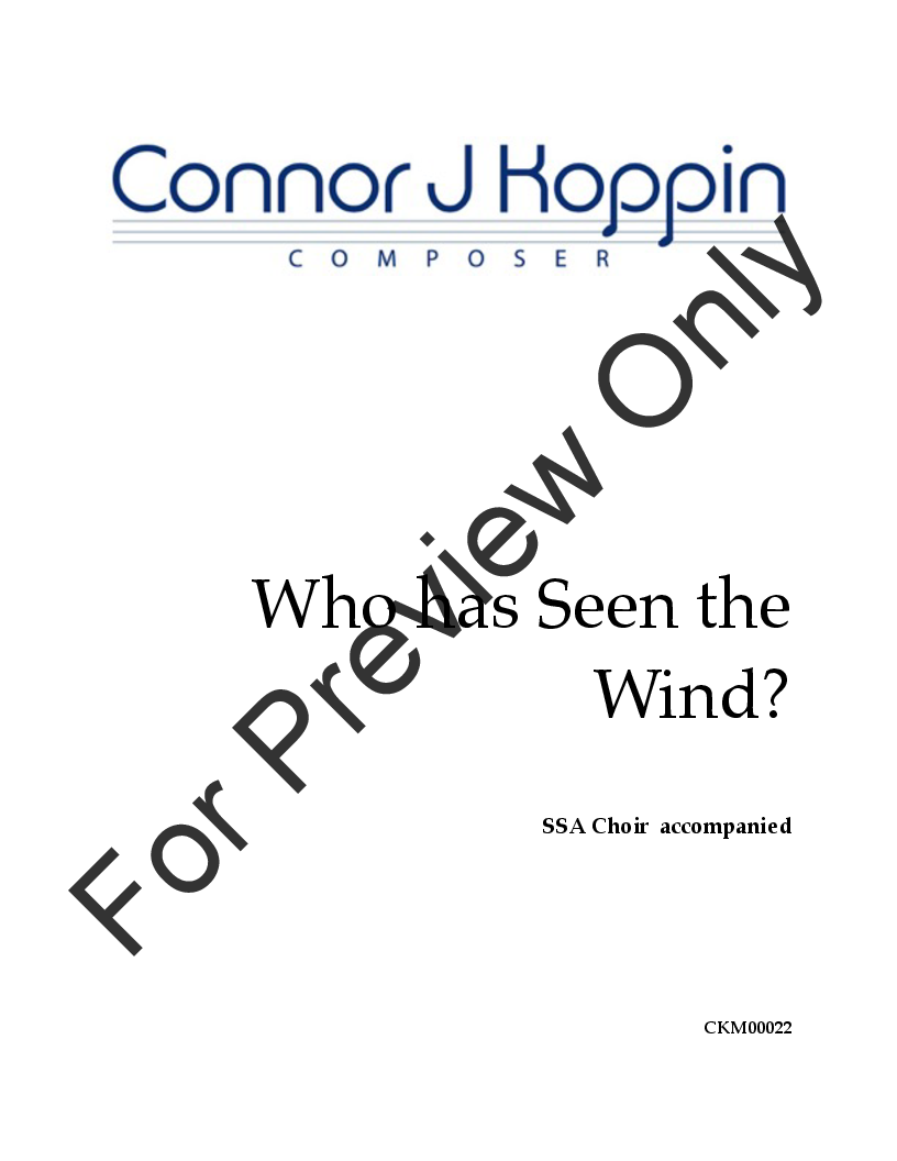 Who Has Seen the Wind? Thumbnail