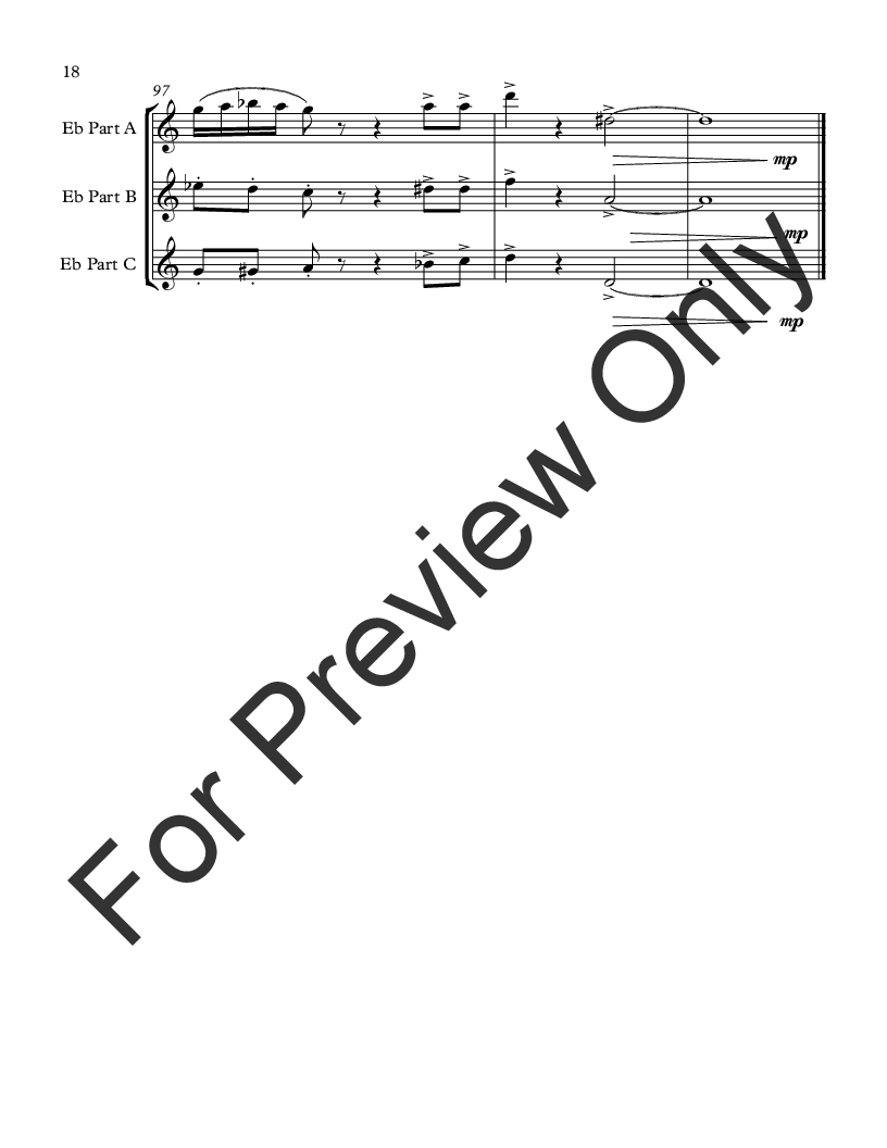 Movie Music for Mixed Trio E-flat Instrument Version Thumbnail