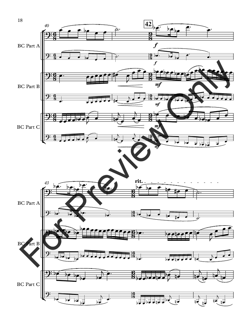 Movie Music for Mixed Trio Bass Clef Instruments Version Thumbnail