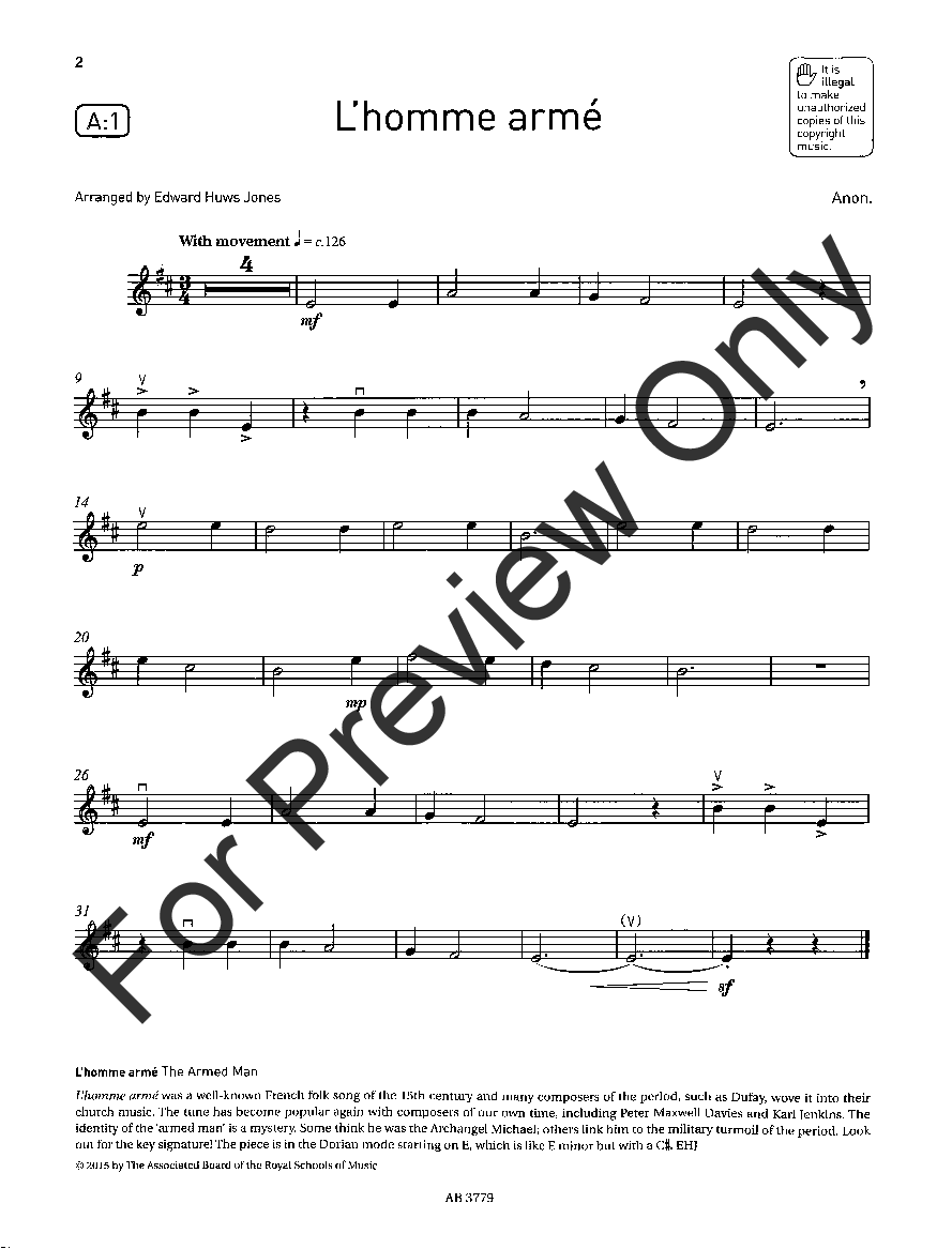 Violin Exam Pieces, 2016-2019, Grade #1 (Violin&n | J W  Pepper
