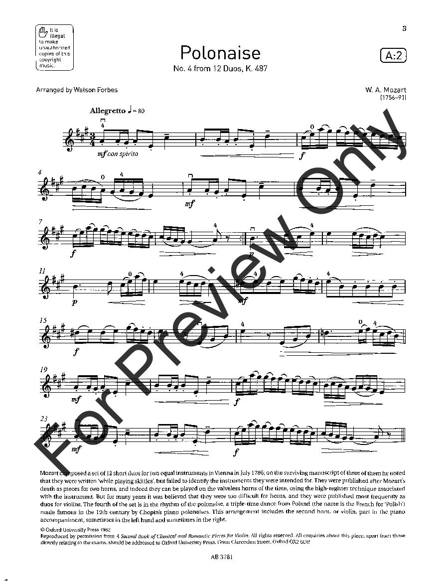 Violin Exam Pieces, 2016-2019, Grade #3 (Violin&n   J W  Pepper