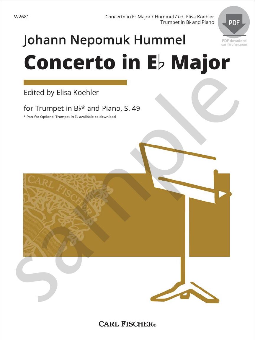 Concerto in E-flat Major (Trumpet Solo with | J W  Pepper