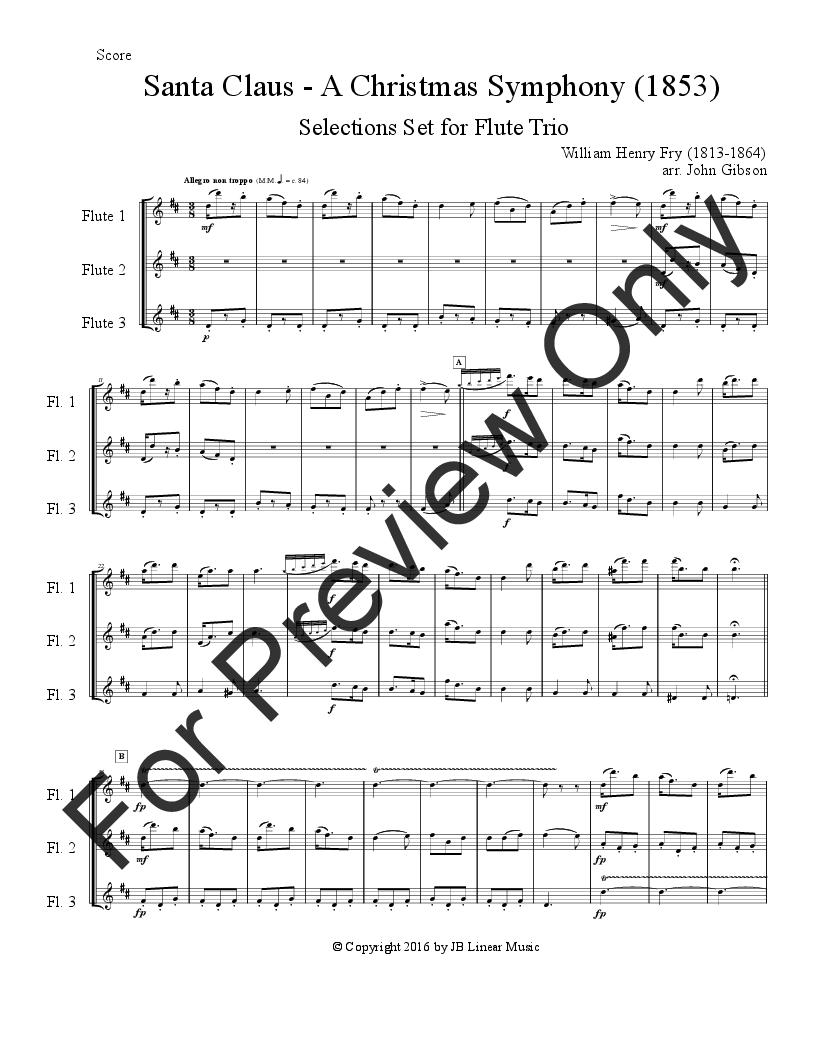 Santa Claus - A Christmas Symphony for Flute Trio | J W