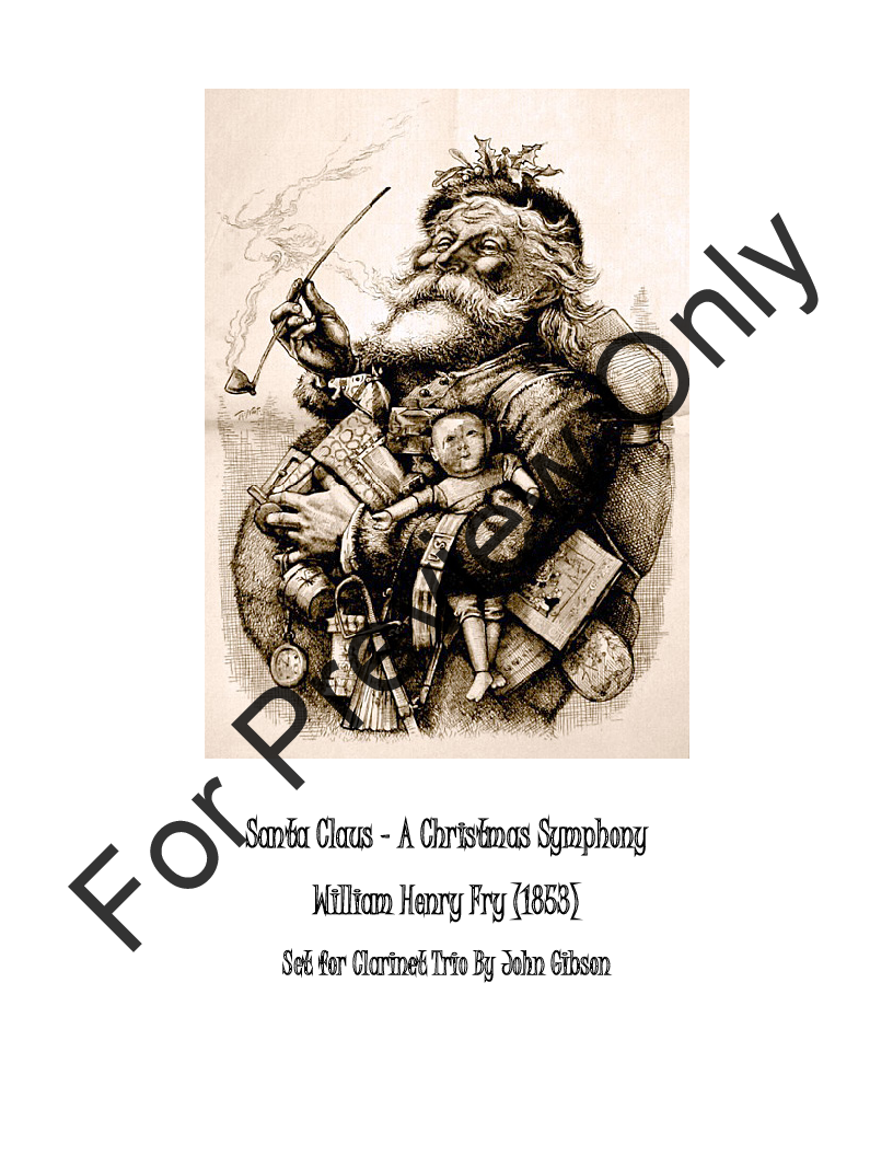 Santa Claus - A Christmas Symphony for Clarinet Trio Thumbnail