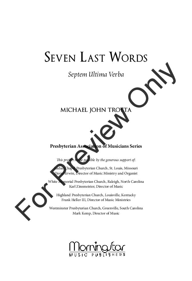 Seven Last Words Thumbnail