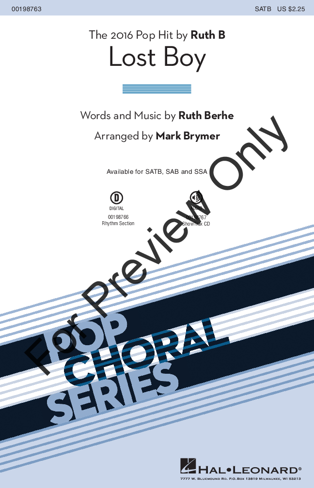 picture regarding Lost Boy Piano Sheet Music Free Printable named Dropped Boy (SATB ) through Ruth Berhe/arr. Mark Bry J.W. Pepper