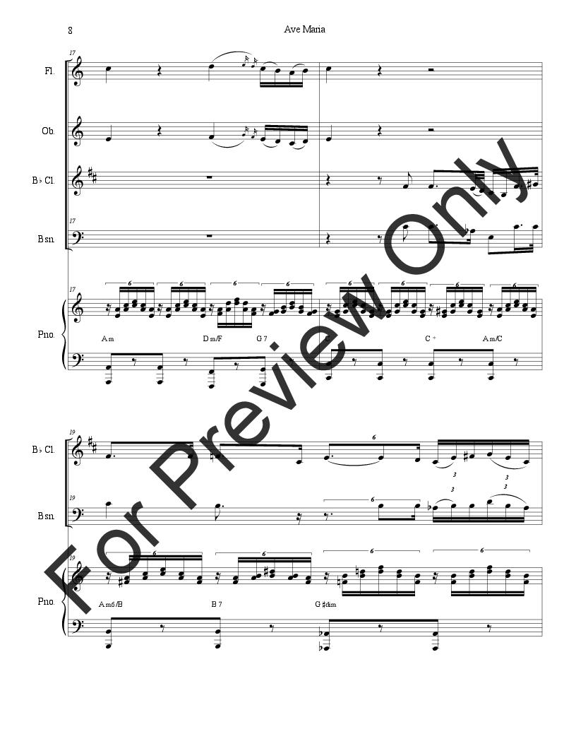 Ave Maria (for Woodwind Quartet) Thumbnail