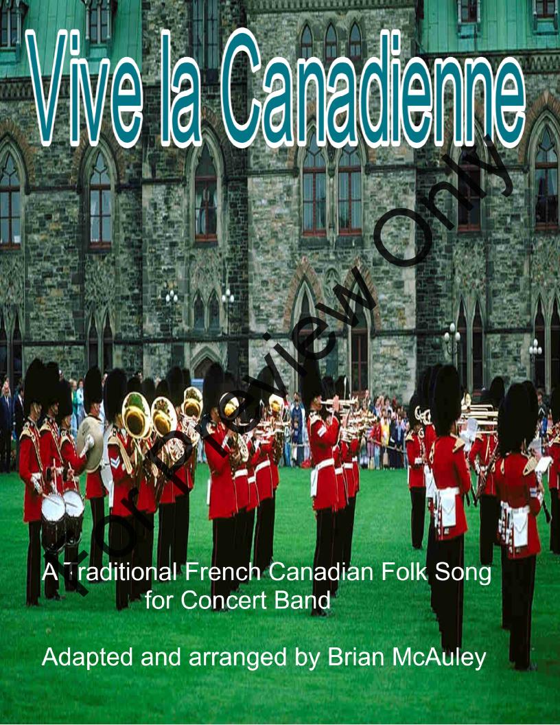 Vive la Canadienne by Traditional / Brian McAuley| J W  Pepper Sheet