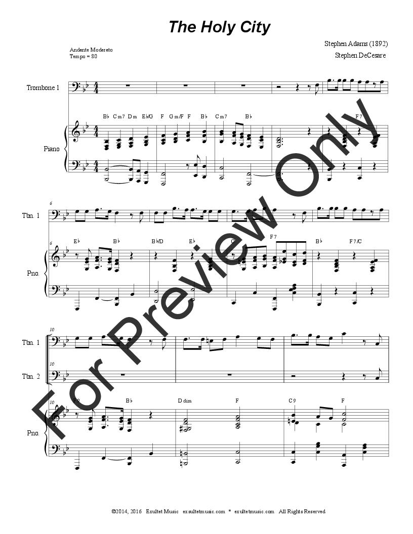 The Holy City (Duet) Thumbnail