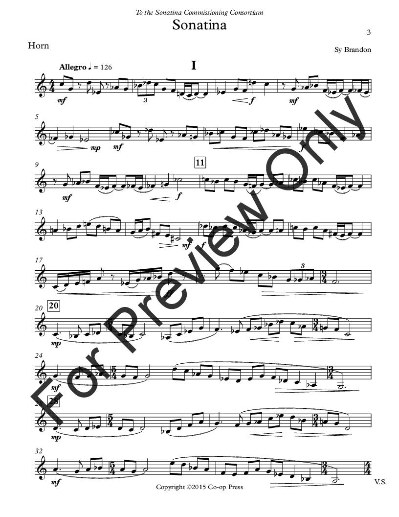 Sonatina for Unaccompanied Horn Thumbnail