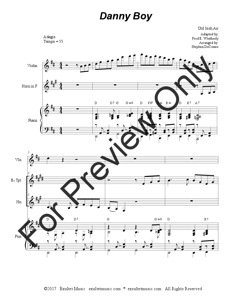 Danny Boy (Duet for Bb-Trumpet and French Horn) (   J W