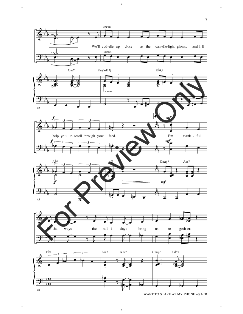 I Want to Stare at My Phone with You (SATB ) | J W  Pepper