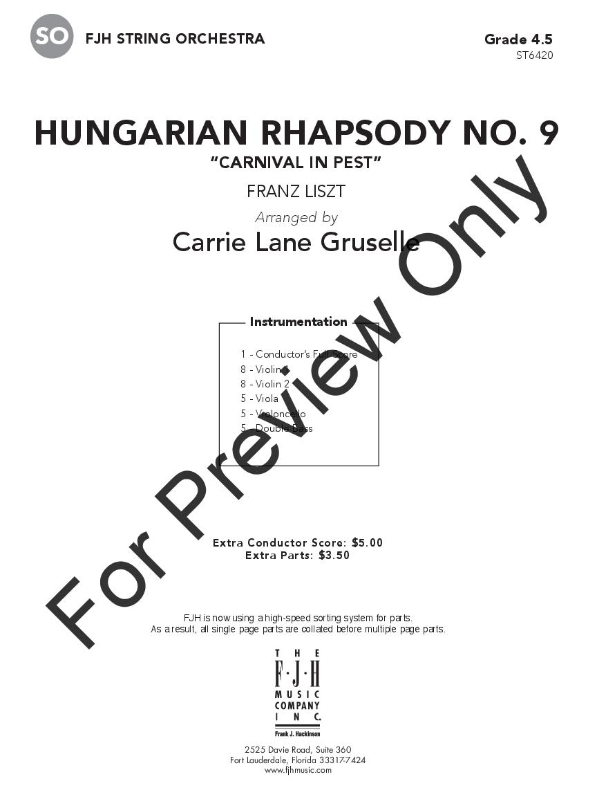 Hungarian Rhapsody No. 9 Thumbnail