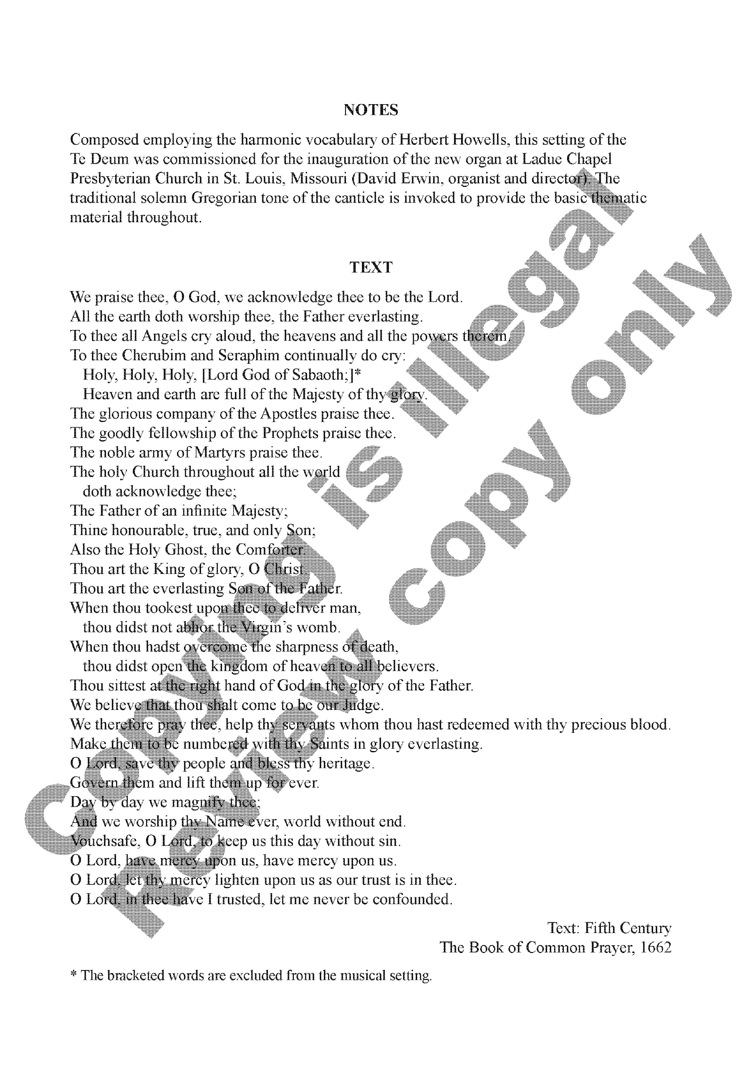 Te Deum laudamus (SATB ) by Robert Lehman| J W  Pepper
