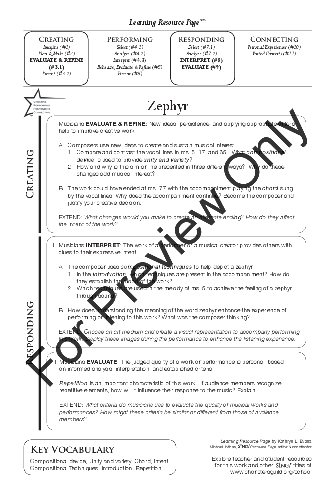 Zephyr (Three-Part Mixed ) by Amy F  Bernon| J W  Pepper Sheet Music