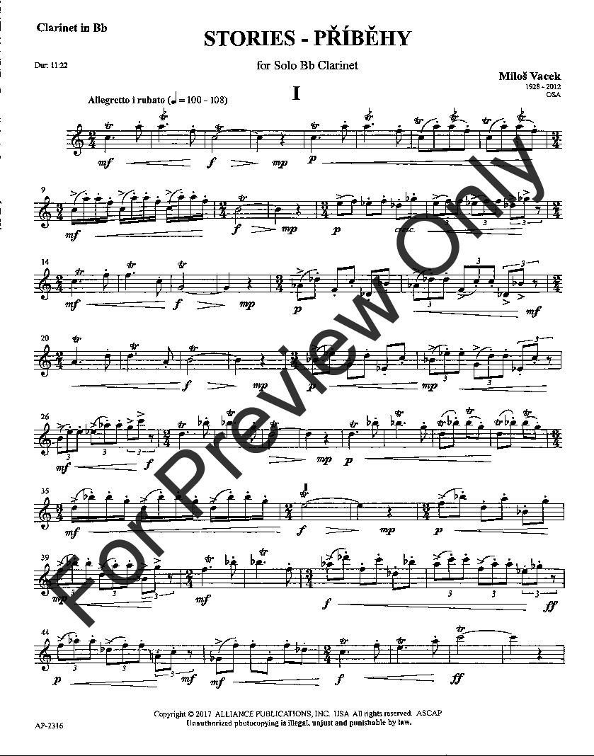 Stories for Solo Bb Clarinet (Clarinet Solo | J W  Pepper Sheet