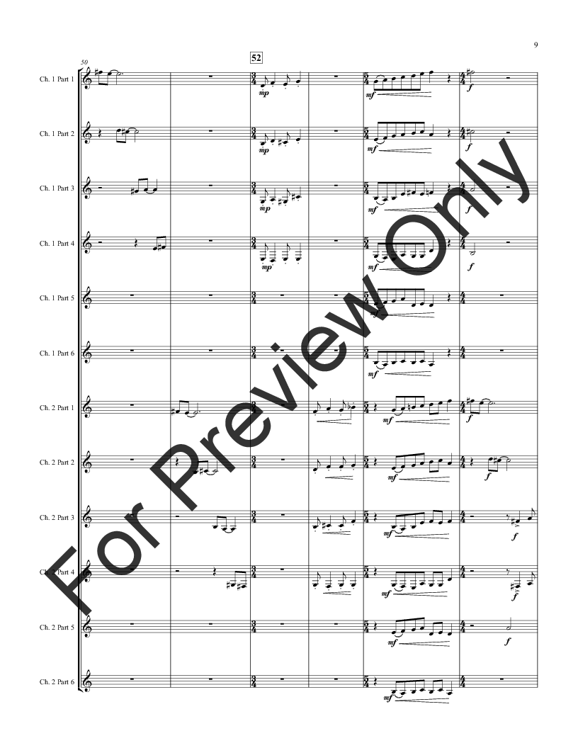 Antiphony for 8-12 part Horn Choir Thumbnail