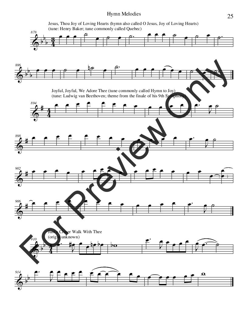 Hymn Melodies (Flute Book ) by Various | J W  Pepper Sheet Music
