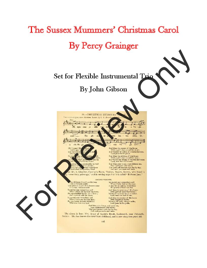 dfc7cc8f8ae Sussex Mummers' Christmas Carol (Woodwind Tr | J.W. Pepper Sheet ...