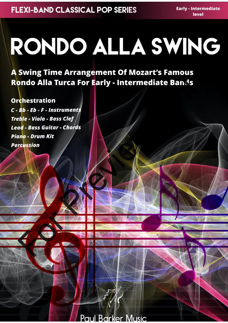 Mozart's Rondo Alla Swing by Mozart / Paul Barker  J W