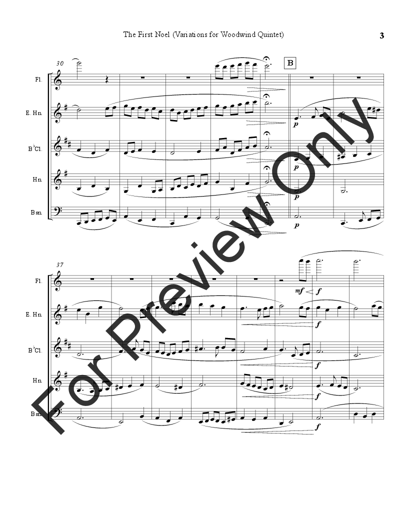 The First Noel (Variations for Woodwind Quintet) Thumbnail