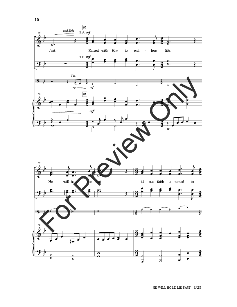He Will Hold Me Fast (SATB ) by Matt Merker/ | J W  Pepper Sheet Music
