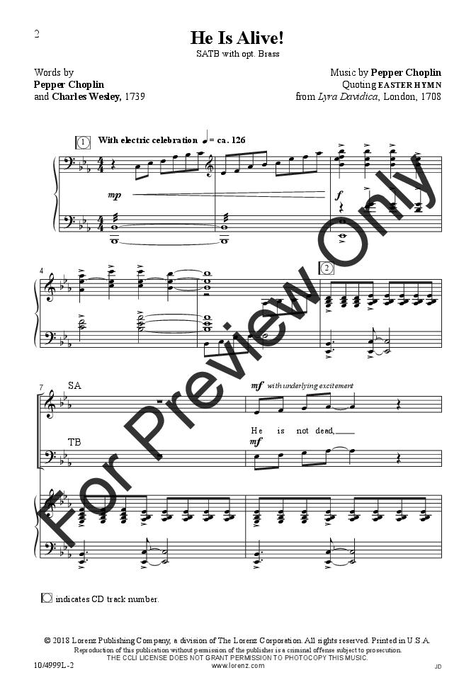 He Is Alive! (SATB ) by Pepper Choplin| J W  Pepper Sheet Music