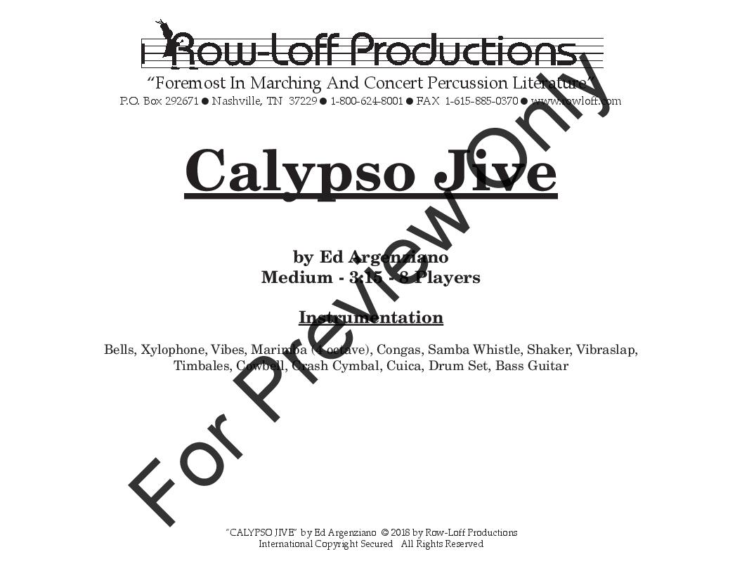 Calypso Jive (Percussion Octet ) by Ed | J W  Pepper Sheet Music