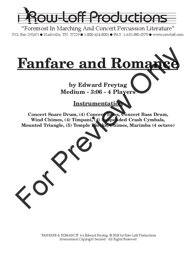 Fanfare and Romance Thumbnail