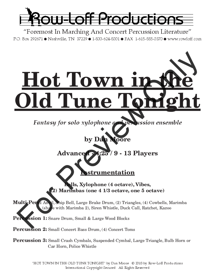 Hot Town in the Old Tune Tonight Thumbnail