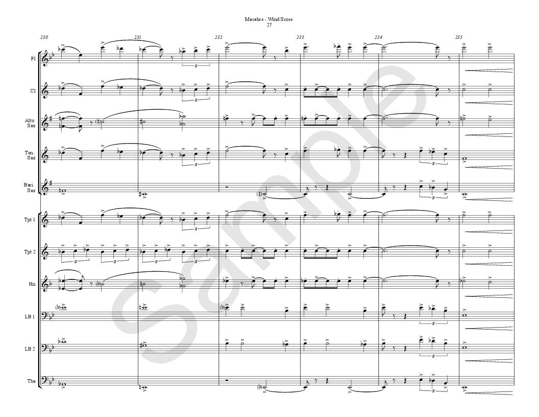 Macabre by Gary P  Gilroy & Nathan Eby| J W  Pepper Sheet Music