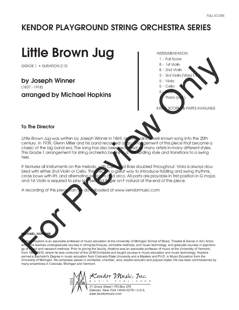 Little Brown Jug Thumbnail