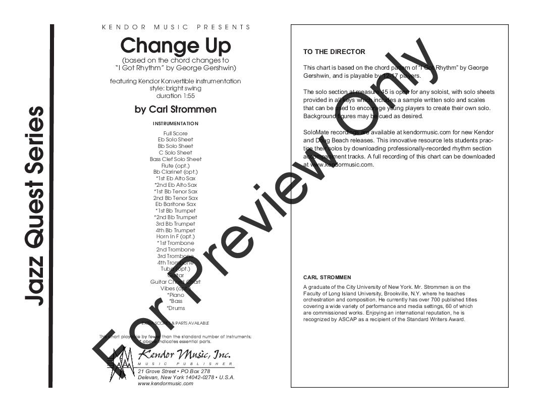 Change Up by Carl Strommen| J W  Pepper Sheet Music