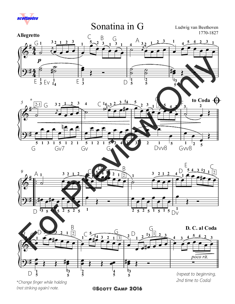 Fur Elise Sheet Music With Finger Numbers