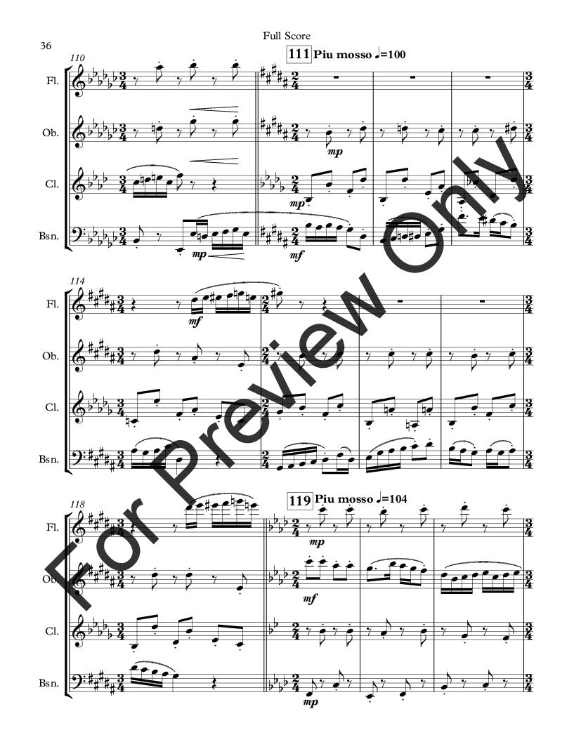Divertimento for Woodwind Quartet Thumbnail
