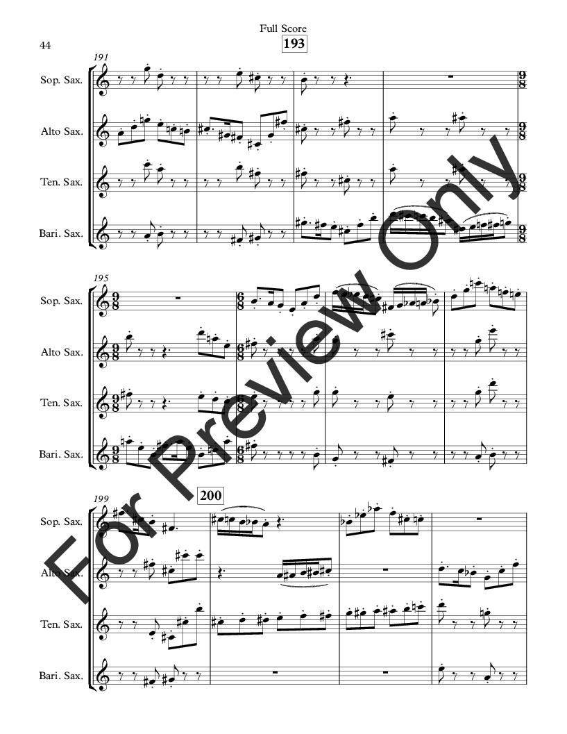 Divertimento for Saxophone Quartet Thumbnail