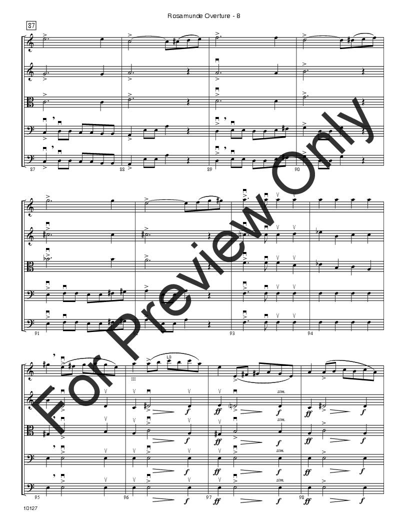 Rosamunde Overture Thumbnail