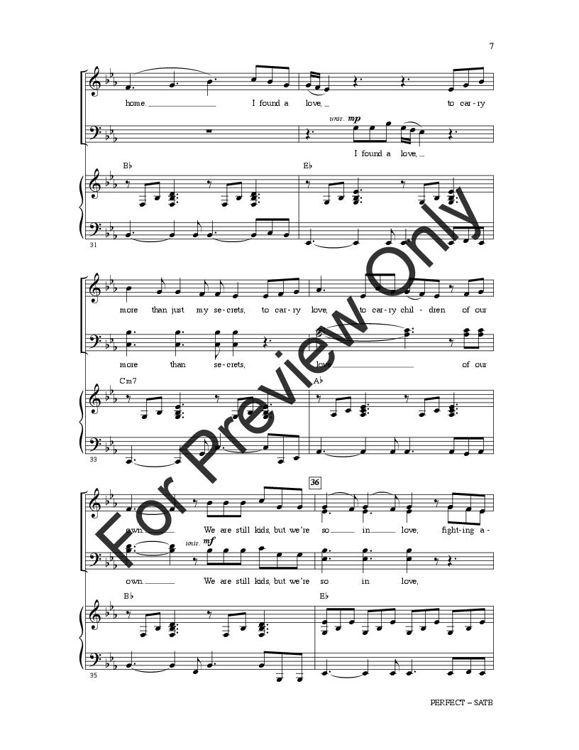 Perfect Duet Piano Sheet Music Free