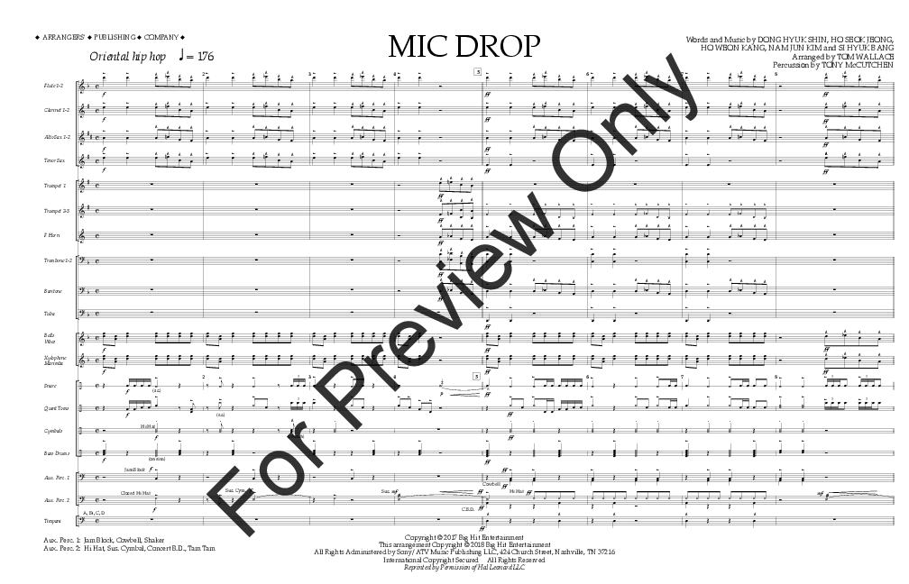 MIC Drop arr  Tom Wallace| J W  Pepper Sheet Music